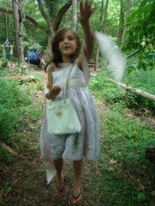 Abby throwing fairy dust!
