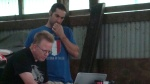 ...while Doug and Bassam work on some scenes in the barn!